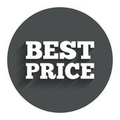 Best price sign icon. Special offer symbol. — Stock Vector
