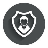 Security agency icon. Shield protection symbol. — Stock Vector