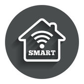 Smart home sign icon. Smart house button. — Stock Vector