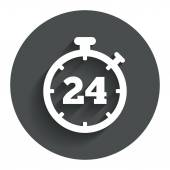 24 hours Timer sign icon. Stopwatch symbol. — Stock Vector