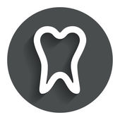Tooth sign icon. Dental care symbol. — Vecteur