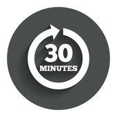 Chaque icône de signe de 30 minutes. flèche de rotation complète. — Vecteur