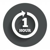Every hour sign icon. Full rotation arrow. — Vector de stock