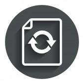 File document refresh icon. Reload doc symbol. — Stock Vector