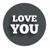 Love you sign icon. Valentines day symbol. — Stok Vektör