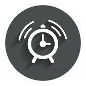 Alarm clock sign icon. Wake up alarm symbol. — Stock Vector