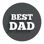 Best father sign icon. Award symbol. — Stock Vector