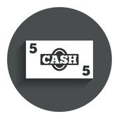 Cash sign icon. Money symbol. Coin. — Stock Vector