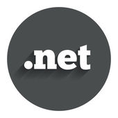 Domain NET sign icon. Top-level internet domain — Stockvector