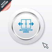 Automatic door sign icon. Auto open symbol. — Stock Vector