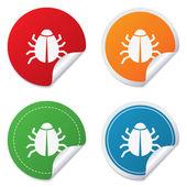 Bugg tecken ikon. virus-symbol. programvara bugg fel — Stockvektor