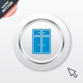 食器棚の記号アイコン。モダンな家具のシンボル. — ストックベクタ
