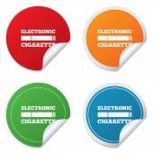 Smoking sign icon. E-Cigarette symbol. — Stock Vector
