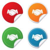 Handshake sign icon. Successful business symbol. — Vecteur