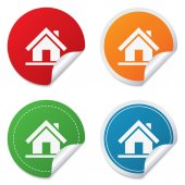 Home sign icon. Main page button. Navigation — Stockvector