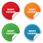 Most viewed sign icon. Most watched symbol. — Vetor de Stock
