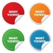Most viewed sign icon. Most watched symbol. — Vecteur