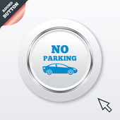 No parking sign icon. Private territory symbol. — Stock Vector