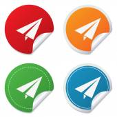 Paper Plane sign. Airplane symbol. Travel icon. — Stock Vector
