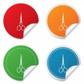 Scissors hairdresser closed icon. Tailor symbol. — Vecteur