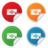 Tips sign icon. Cash money symbol. Coin. — Stock Vector