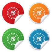 Compass sign icon. Windrose navigation symbol. — Stockvector