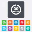 Every 20 minutes sign icon. Full rotation arrow. — Vettoriale Stock