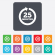 Every 25 minutes sign icon. Full rotation arrow. — Stock Vector #53829793