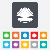 Sea shell sign icon. Conch symbol. Travel icon. — Wektor stockowy
