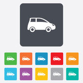 Car sign icon. Hatchback symbol. — Stock Vector