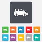 Car sign icon. Hatchback symbol. — Wektor stockowy