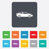 Car sign icon. Sedan saloon symbol. — Wektor stockowy
