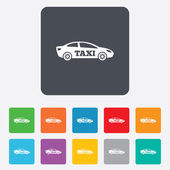 Taxi car sign icon. Sedan saloon symbol. — Wektor stockowy