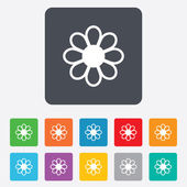 Flower sign icon. Blossom symbol. — Wektor stockowy