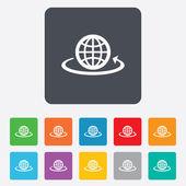 Globe sign icon. Round the world arrow symbol. — Wektor stockowy