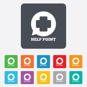 Help point sign icon. Medical cross symbol. — Wektor stockowy