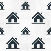 Icona del segno di casa. pulsante pagina principale. navigazione — Vettoriale Stock