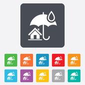 Home Versicherung Zeichen Symbol. Immobilien Versicherungen. — Stockvektor