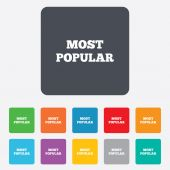 Most popular sign icon. Bestseller symbol. — Vetorial Stock