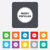 Most popular sign icon. Bestseller symbol. — Stock Vector