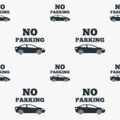 Nessuna icona segno di parcheggio. simbolo del territorio privato. — Vettoriale Stock