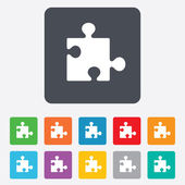Puzzle piece sign icon. Strategy symbol. — Vetorial Stock