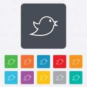 Social media icon. Short messages twitter symbol. — Stock Vector