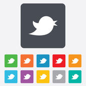 Social media icon. Short messages twitter symbol. — Vetor de Stock