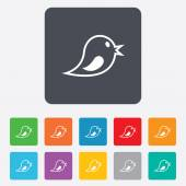 Social media icon. Short messages twitter symbol. — ストックベクタ
