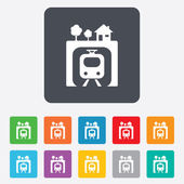 Underground sign icon. Metro train symbol. — Stock Vector
