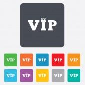 Vip sign icon. Membership symbol. — Stockvector