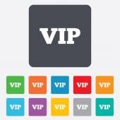 Vip sign icon. Membership symbol. — Stock Vector