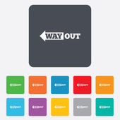 Way out left sign icon. Arrow symbol. — Wektor stockowy