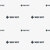 Way out left sign icon. Arrow symbol. — Stock Vector